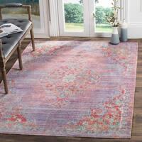 Safavieh Windsor Lavender/ Fuchsia Distressed Silky Polyester Area Rug - 8' x 10'