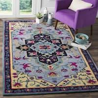 Safavieh Bellagio Hand-Woven Wool Light Blue / Multi Area Rug (2' x 3')