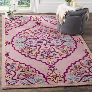 Safavieh Bellagio Hand-Woven Wool Pink / Multi Area Rug - 2' x 3'