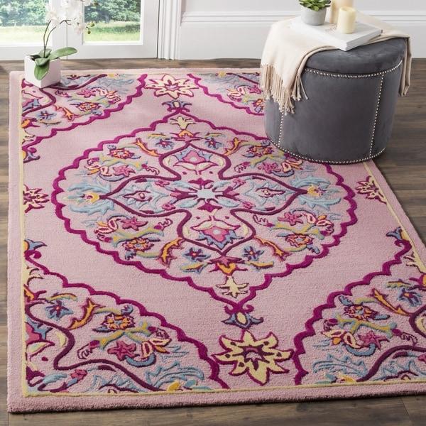 Shop Safavieh Bellagio Hand-Woven Wool Pink / Multi Area