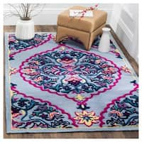 Safavieh Bellagio Hand-Woven Wool Blue / Multi Area Rug - 2' x 3'