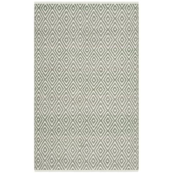 Safavieh Hand-Woven Boston Grey Cotton Rug (2' 6 x 4')