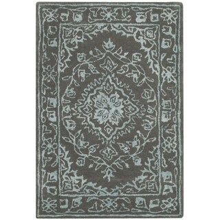 Safavieh Handmade Glamour Contemporary Bohemian Dark Grey Viscose Rug (2' x 3')