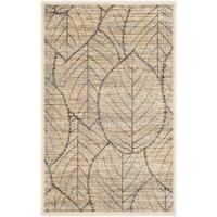Martha Stewart by Safavieh Foliage Cream/ Multi Viscose Rug - 2'7 x 4'
