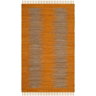 Safavieh Hand-Woven Montauk Flatweave Orange Cotton Rug (2' 6 x 4')