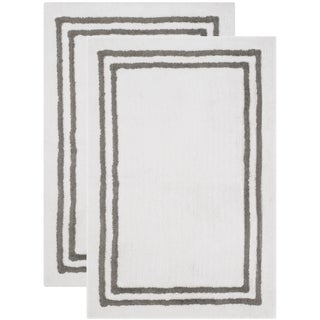 Safavieh Plush Master Bath Hand-Woven Cotton Dark Grey Area Rug (2' x 3')