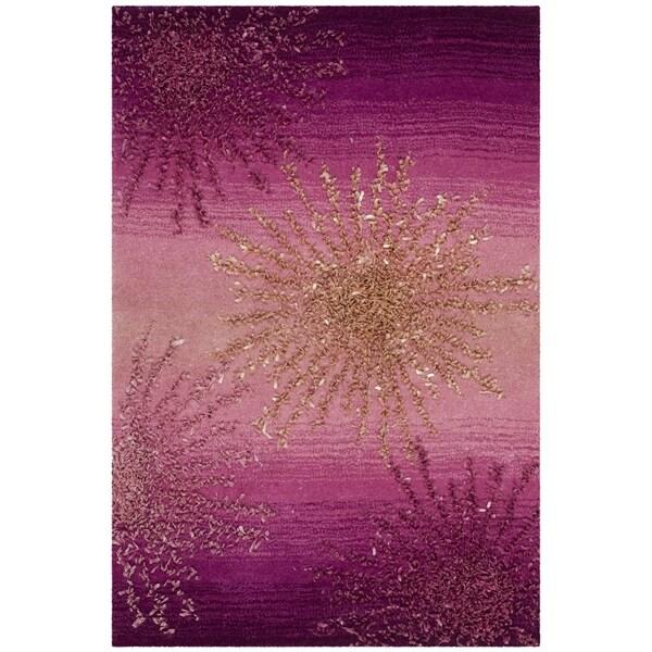 Safavieh SoHo Hand-Woven Wool Pink Area Rug - 2' x 3'
