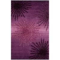 Safavieh SoHo Hand-Woven Wool Purple Area Rug - 2' X 3'