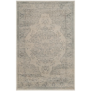 Safavieh Vintage Oriental Light Blue/ Cream Distressed Silky Viscose Rug (2' x 3')