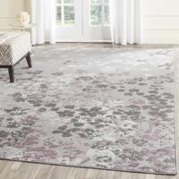 Safavieh Adirondack Vintage Floral Light Grey / Purple Area Rug (11' x 15') - 11' x 15'