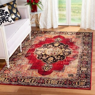 Safavieh Vintage Hamadan Medallion Red/ Multi Distressed Rug - 11' x 15'