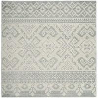 Safavieh Adirondack Southwestern Slate/ Ivory Rug - 6' Square