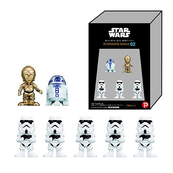 Plex Star Wars Mania 02 White Box R2D2 C-3PO Stormtrooper Figure Set