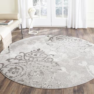Safavieh Adirondack Vintage Damask Silver/ Ivory Area Rug (7' Round)|https://ak1.ostkcdn.com/images/products/14194893/P20790946.jpg?impolicy=medium