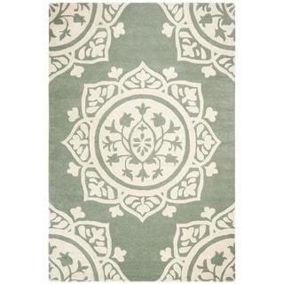 Safavieh Hand-Woven Bella Grey / Ivory Wool Rug (5' Square)