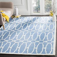 Safavieh Hand-Woven Bella Blue / Ivory Wool Rug - 5' Square