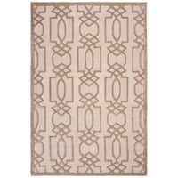 Safavieh Hand-Woven Bella Sand / Brown Wool Rug - 5' Square
