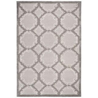 Safavieh Hand-Woven Bella Grey / Light Grey Wool Rug (5' Square)