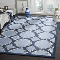 Safavieh Hand-Woven Bella Navy / Blue Wool Rug - 5' Square