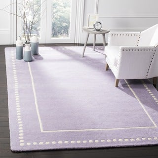 Safavieh Bella Contemporary Handmade Lavender / Ivory Wool Rug (5' Square)