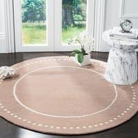 Safavieh Bella Contemporary Handmade Beige / Ivory Wool Rug - 5' Round