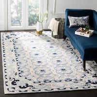 Safavieh Hand-Woven Bella Ivory / Blue Wool Rug - 5' Round