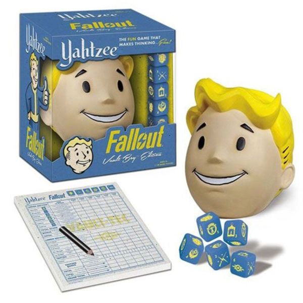 USAopoly Yahtzee Fallout Vault Boy Edition Game