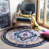 Safavieh Bellagio Hand-Woven Wool Light Blue / Multi Area Rug (5' Round)