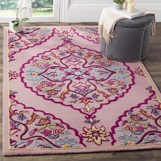 Safavieh Bellagio Hand-Woven Wool Pink / Multi Area Rug (5' Square)