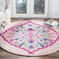 Safavieh Bellagio Hand-Woven Wool Light Pink / Multi Area Rug - 5' Round