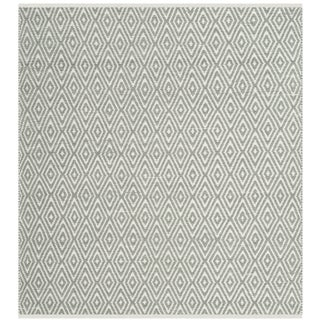 Safavieh Hand-Woven Boston Grey Cotton Rug (4' Square)