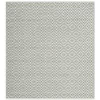 Safavieh Hand-Woven Boston Grey Cotton Rug - 4' Square
