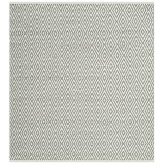 Safavieh Hand-Woven Boston Grey Cotton Rug (6' Square)
