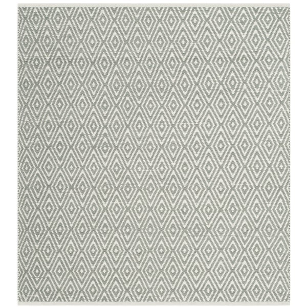 Safavieh Hand-Woven Boston Grey Cotton Rug - 6' x 6' Square