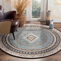 Safavieh Classic Southwestern Bohemian Slate/ Beige Cotton Rug - 6' Round
