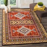 Safavieh Classic Southwestern Bohemian Orange/ Gold Cotton Rug (6' Square)