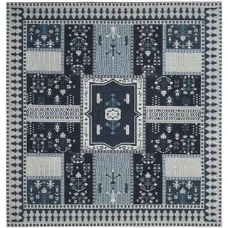 Safavieh Classic Vintage Boho Tomasa Oriental Cotton Rug (6 x 6 Square - Navy/Light Blue)