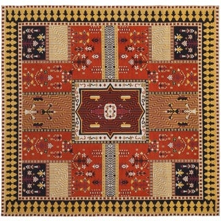 Safavieh Classic Vintage Boho Tomasa Oriental Cotton Rug (6 x 6 Square - Orange/Gold)