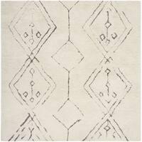 Safavieh Casablanca Handmade Moroccan Flokati Ivory / Multi Wool Rug - 6' Square