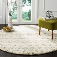Safavieh Hand-Woven Casablanca Ivory / Grey New Zealand Wool Rug - 6' Round