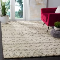 Safavieh Hand-Woven Casablanca Ivory / Grey New Zealand Wool Rug - 6' x 6' Square