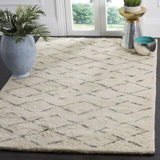Safavieh Hand-Woven Casablanca Ivory / Grey New Zealand Wool Rug (6' Square)