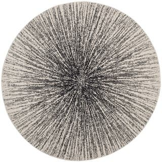 Safavieh Evoke Vintage Abstract Burst Black/ Ivory Distressed Rug (5'1 Round)|https://ak1.ostkcdn.com/images/products/14195062/P20791092.jpg?impolicy=medium