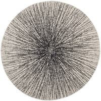 "Safavieh Evoke Vintage Abstract Burst Black/ Ivory Distressed Rug - 5'1"" x 5'1"" round"