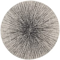 Safavieh Evoke Vintage Abstract Burst Black/ Ivory Distressed Rug (5'1 Round)