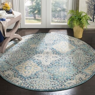 Safavieh Evoke Vintage Light Blue/ Ivory Distressed Rug (5' 1 Round)