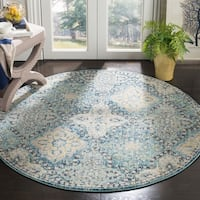 Safavieh Evoke Vintage Light Blue/ Ivory Distressed Rug - 5' 1 round
