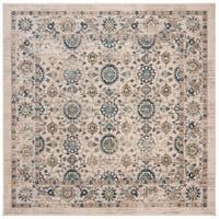 Safavieh Evoke Vintage Oriental Beige/ Turquoise Distressed Rug - 6' 7 Square