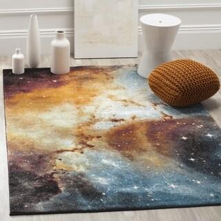 Safavieh Galaxy Orange / Multi Area Rug (5'3 Square)