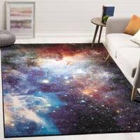 Safavieh Galaxy Purple / Multi Area Rug - 5'3 Square
